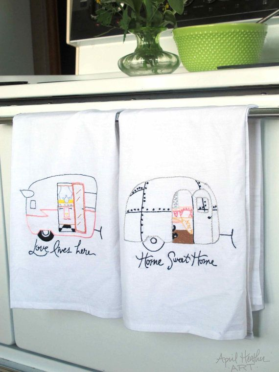 Airstream Camper PDF Embroidery PatternHome by aprilheatherart