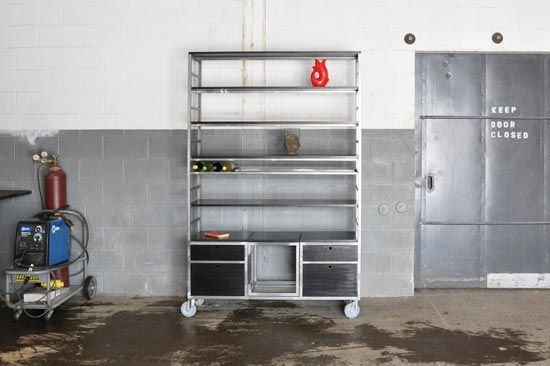 Storage Adjustable Bookcase Storage rack storage unit bookcase bookshelf loft industrial steel wood metal