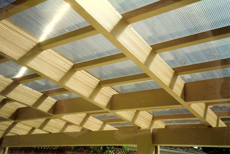 covered deck... Plastic panels called lexan