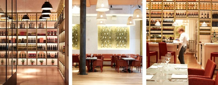 Fig and Olive - Spacious, light-filled restaurant where you can sample different olive oils with your bread.