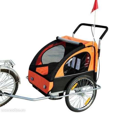 Remorca de bicicleta cu suspensie + carucior, 4 ani garantie, Samax Bucuresti - imagine 4