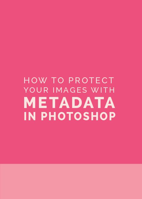 How to Protect Your Images with Metadata in Photoshop - The Elle & Company Collaborative