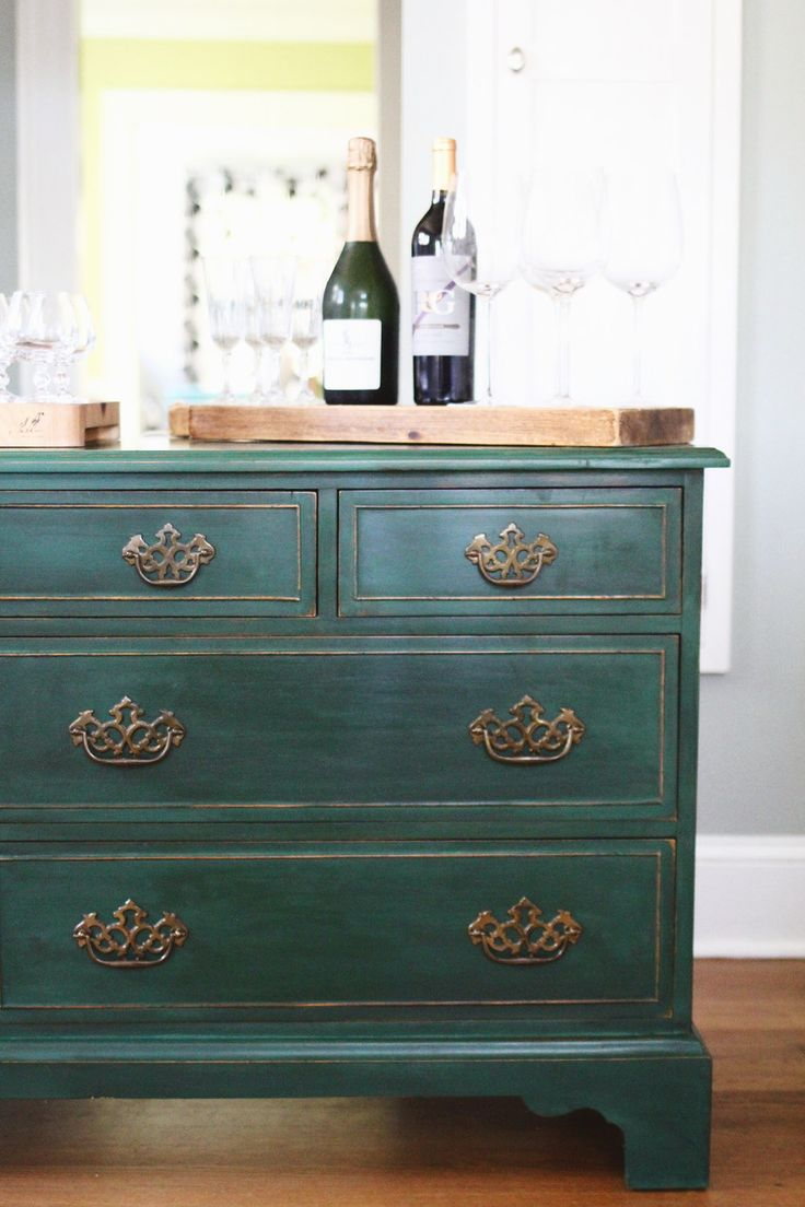 Gorgeous dresser painted with Chalk Paint by