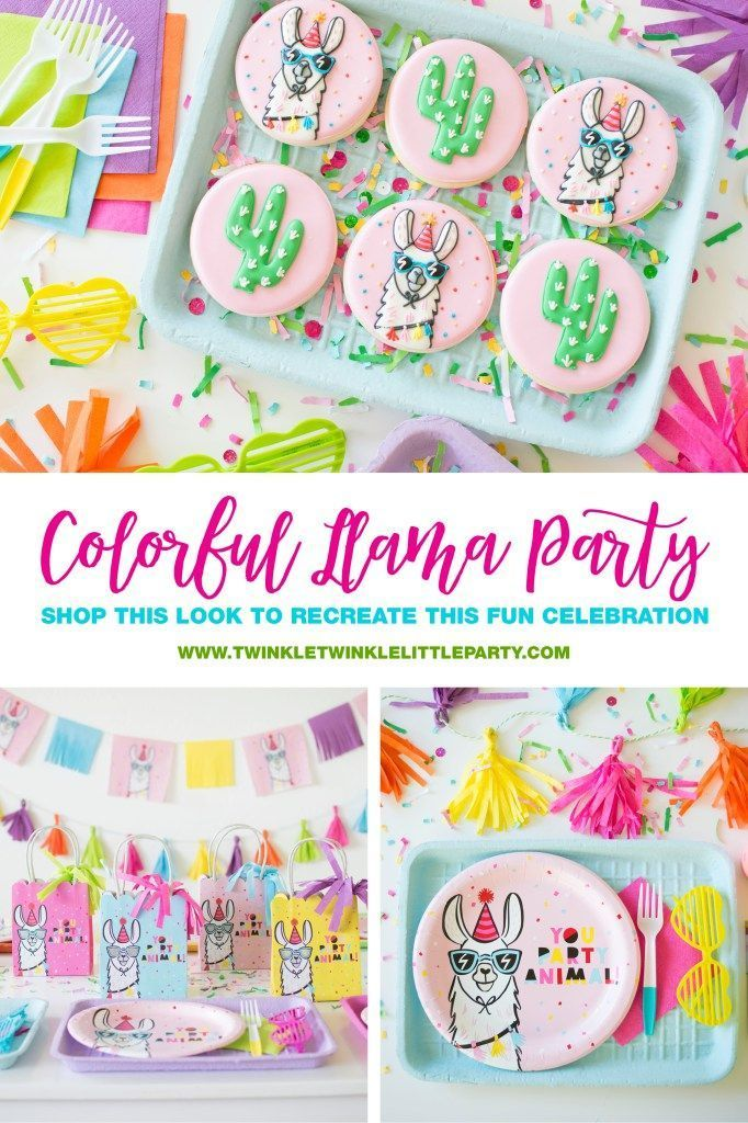 How to throw a Colorful Llama Party for your favorite party animals