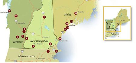 Maine Brewery Tour Map