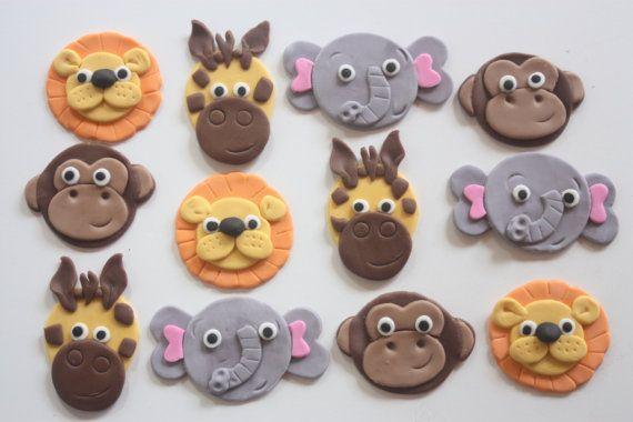 12 fondant cupcake topperssafari jungle zoo noah's by PastelFiesta, $15.50: Cakes Ideas, Theme Cupcakes, Fondant Cupcake Toppers, Cupcakes Topperssafari, Fondant Cupcakes Toppers, Topperssafari Jungles, Cupcakes Toppers Safari, Birthday Ideas, Birthday Cakes