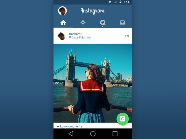 Instagram Material Design PSD