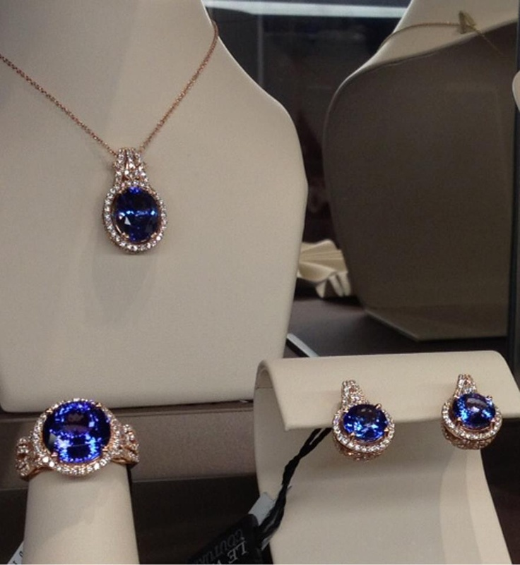 Blueberry Tanzanite® on display. As seen on Le Vian's Facebook fan page.