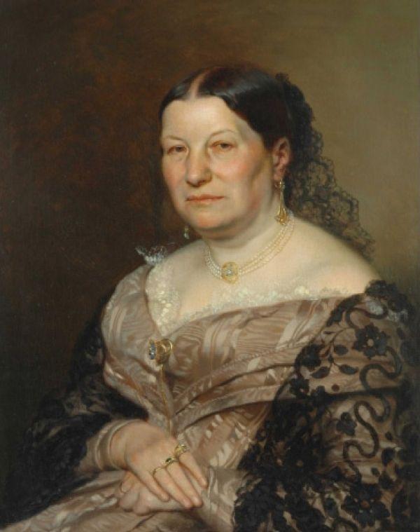 Marie Venduláková Autor: Mánes Josef (1820-1871)      Rozměr: 71,5 x 57,5 cm     Technika: Olej na plátně     Rok: 1854