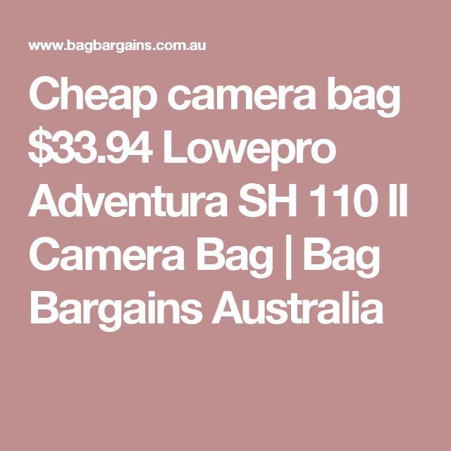 Cheap camera bag $33.94 Lowepro Adventura SH 110 II Camera Bag | Bag Bargains Australia