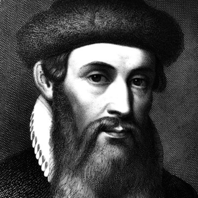 Johannes Guttenburg, German Inventor and Printer. Developed the movable type printing press in 1439. Played a key role in the Renaissance, Age of Enlightenment and Scientific Revolution.