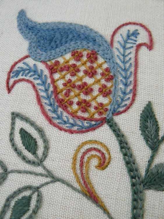 Jacobean Starter Crewel Embroidery Kit by ColeshillCollection More