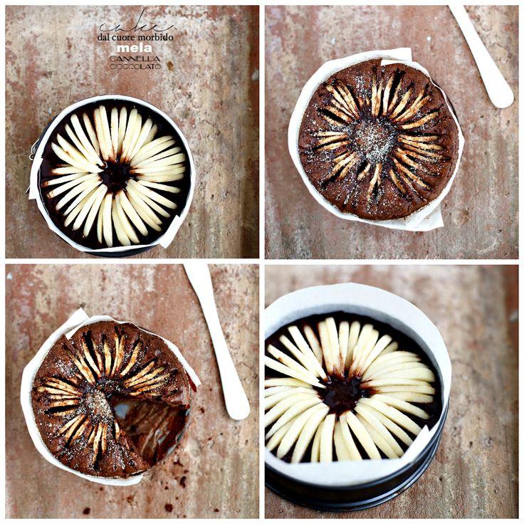 Torta al cioccolato e cannella con le mele