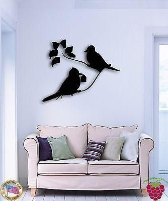 Wall Stickers Vinyl Decal Birds Branch Tree Flower For Bedroom Unique Gift (z1604)