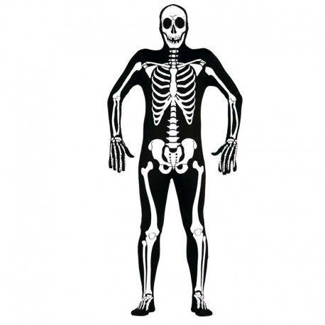 Disfraces Halloween hombre | Disfraz de esqueleto. Contiene mono serigrafiado con huesos y capucha de esqueleto. Talla M/L. 26,95€ #esqueleto #disfrazesqueleto #disfraz #halloween #disfrazhalloween #disfraces