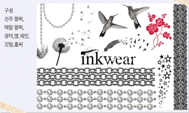 [Inkwear] Temporary Tattoo Ink Wear - Chain & Bird -Temporary tattoo looks amazing on your body! Its cute and stylish at the same time! A temporary tattoo for any occasion! Look more specific->click!
