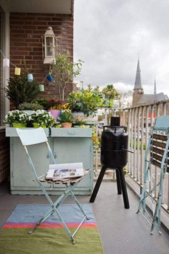"""This cosy balcony is from our feature """"Spicy Ingredients"""""""