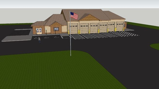 Large Fire Station - 3D Warehouse
