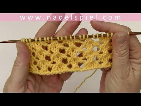 """Love the way she does the """"purl"""" stitches"""" in this video!!!!Stricken mit eliZZZa * Strickmuster """"Hühnchen & Küken"""" - YouTube"""