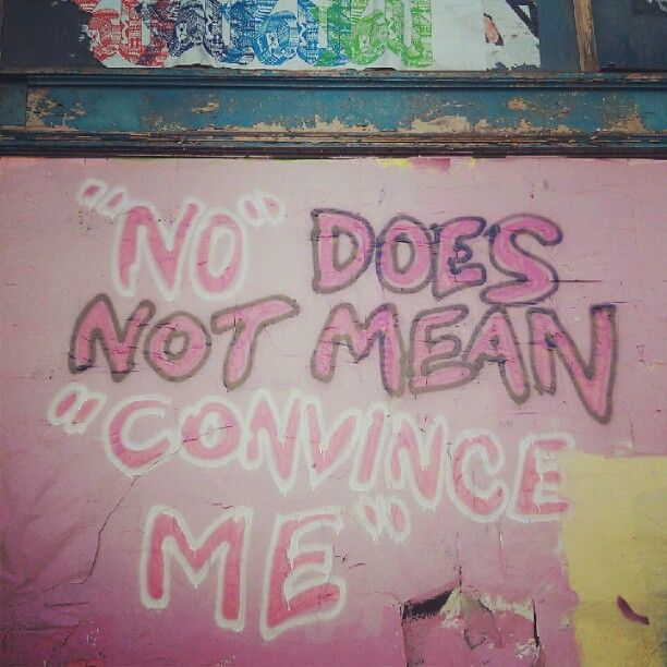 """""""No does not mean 'convince me'""""    [click on this image for a brief analysis and remix about rape culture and the recent proliferation of rape jokes on prime time television]"""