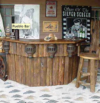 The Pueblo Bar Is A Fabulous Reclaimed Antique Teak Wood That Sure To Add Great Rustic Style Your Den Or Game Room
