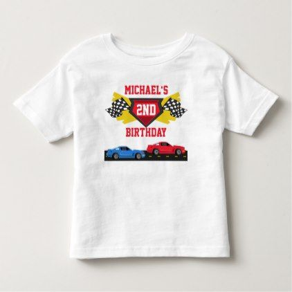 Race Car Birthday T-shirt Toddler Kid Child - birthday gifts party celebration custom gift ideas diy