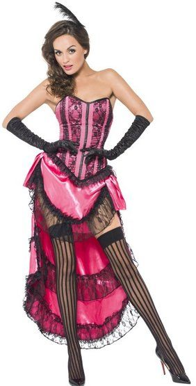 sexy showgirl burlesque dancer saloon wild western can can girl diva costume - Can Can Dancer Halloween Costume