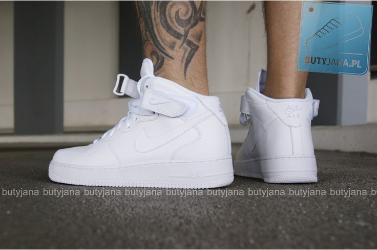 Nike Air Force 1 Mid White #airforcy #białe #airforce1 #nike