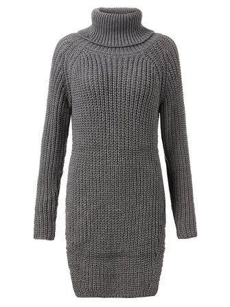 Блудниц твердый водолазка с длинным рукавом вязаный свитер Раскол свитер