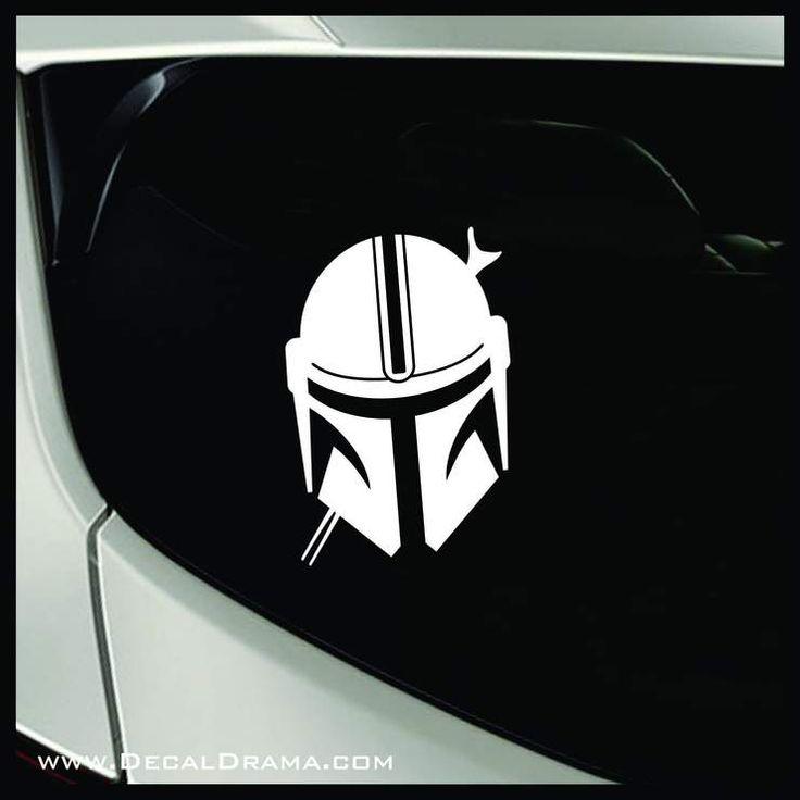 Mandalorians helmet star warsinspired fan art vinyl