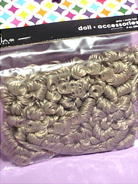 Mini Curls.  Gray.  Package sells for $3.99 on website http://barbspencerdolls.com