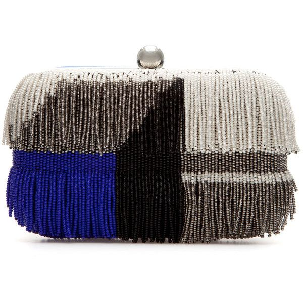 Zara Beaded Evening Bag With Fringes (93 BRL) ❤ liked on Polyvore featuring bags, handbags, clutches, purses, zara, multicolour, handbag purse, cotton handbags, fringe clutches and zara handbags