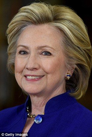 Clinton, pictured here in May 2015, didn't want to go to a clinic, so she had a well-known plastic surgeon to set up a 'mini operating room' in her home, the book claims