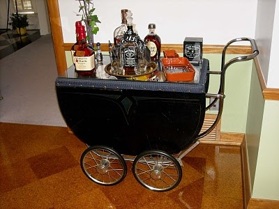 repurposed baby buggy bar  http://www.facebook.com/pages/Suzi-Homefaker/157277567665756