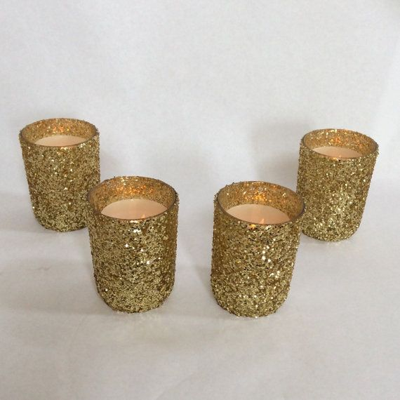 A dozen Glitter Candle Holder 12 wedding candle by Lenoreloves