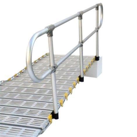 Best Roll A Ramp Removable Aluminum Handrail Kit Aluminum 400 x 300