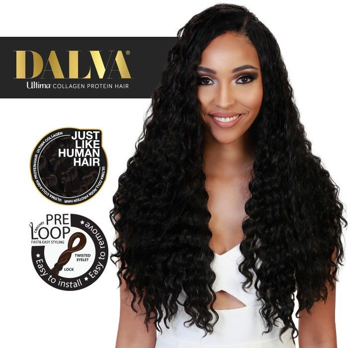 Dalva Ultima Collagen Protein Hair Pre Looped Crochet Braid Deep Twist 14 18 Inch Hair Protein Human Hair Crochet Crochet Braids