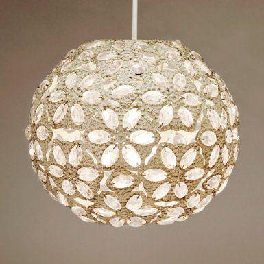 Modern Moroccan Style Cream Metal Ball Ceiling Light Shade