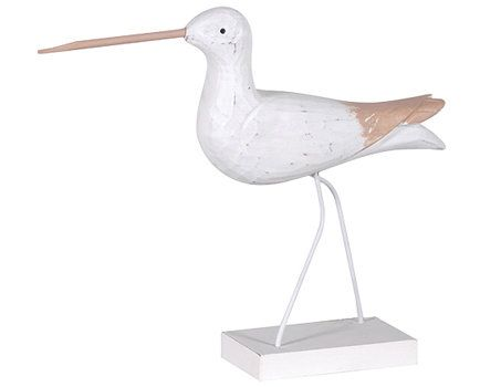 White Wader Bird Ornament available from Browsers Furniture Co., Limerick, Ireland.  https://www.browsers.ie/products/white-wader?category=home-ornaments&top_category=4