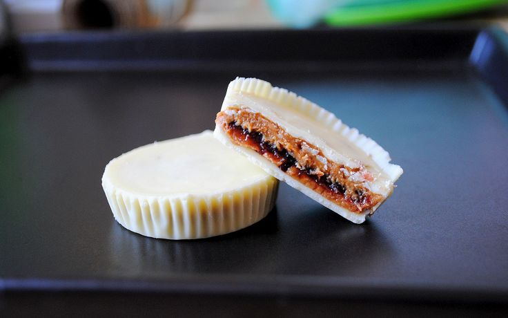 Peanut butter and jelly Reese's homemeade Reese's