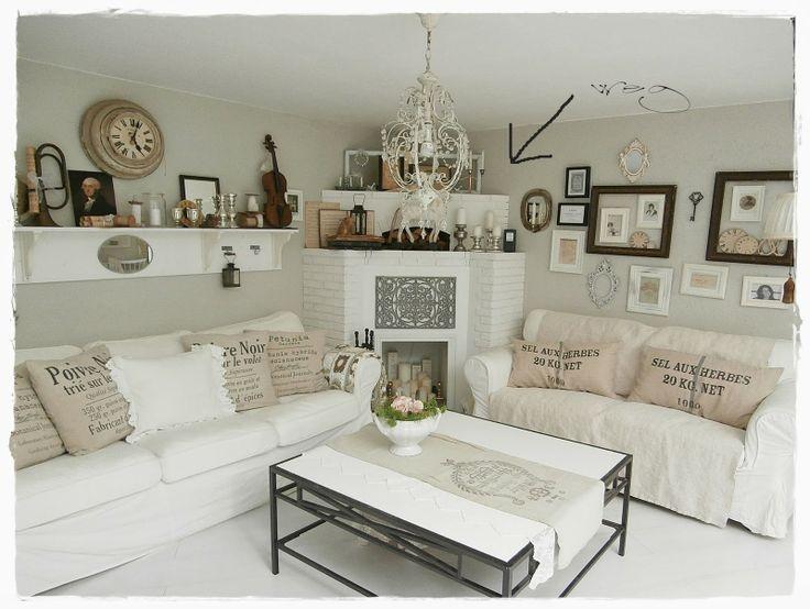 die 57 besten bilder zu landhausstil auf pinterest | shabby chic ... - Wohnzimmer Grau Weis Landhaus