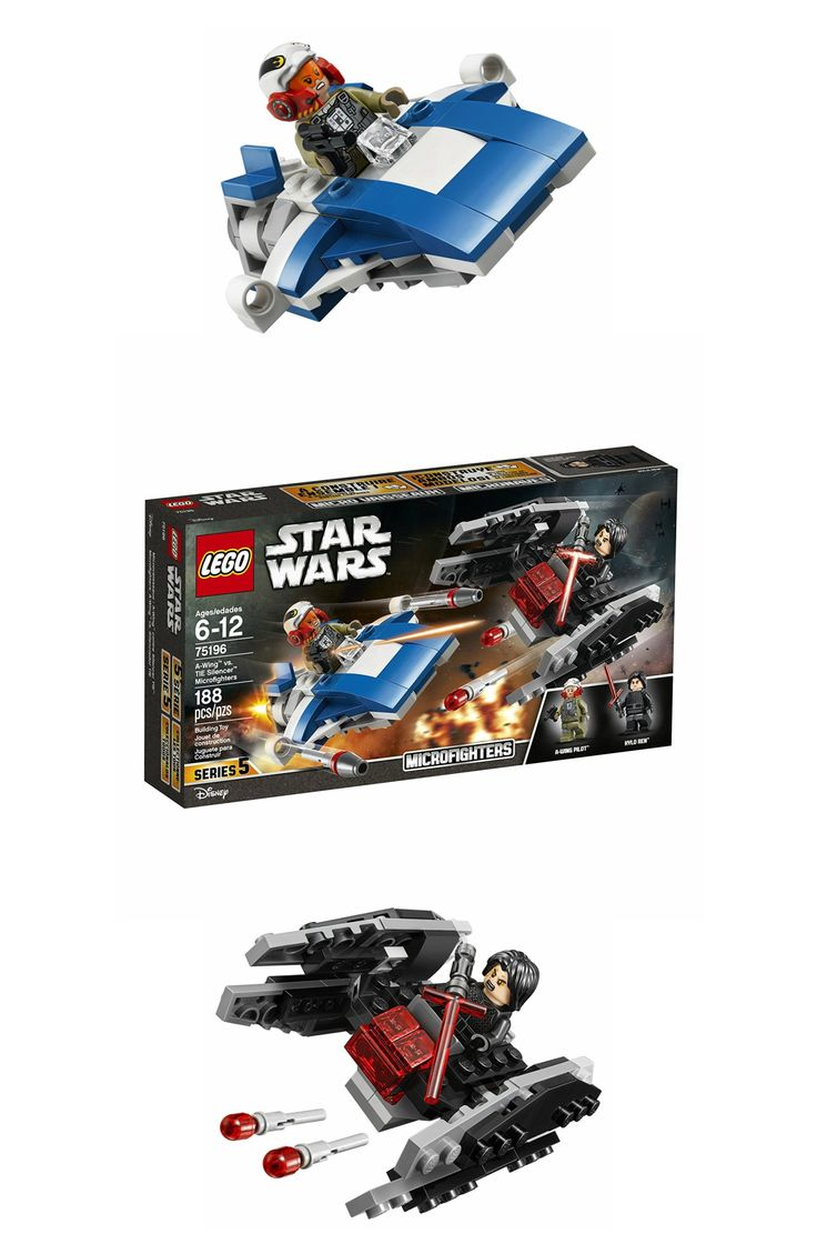 LEGO Star Wars AWing vs. TIE Silencer Microfighters ONLY