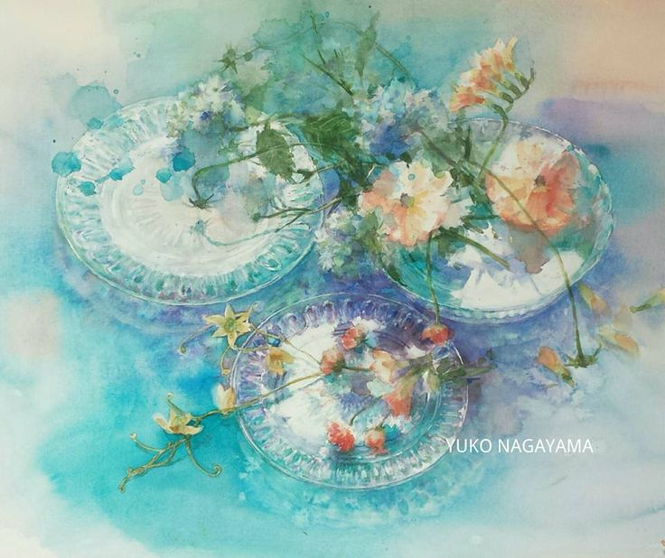 Four Elements Watercolour Artist Tuffytats: 468 Best Images About Yuko Nagayama On Pinterest