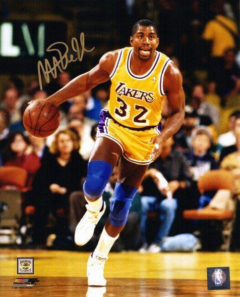01599496c Magic Johnson Signed Los Angeles Lakers 8x10 Photo
