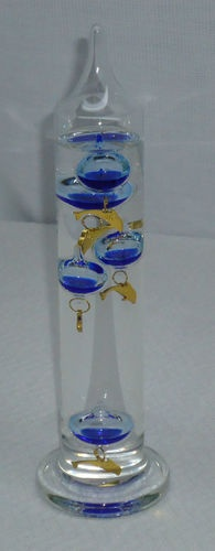 """Galileo Thermometer 11 25"""" Tall Glass with Dolphin Theme   eBay"""