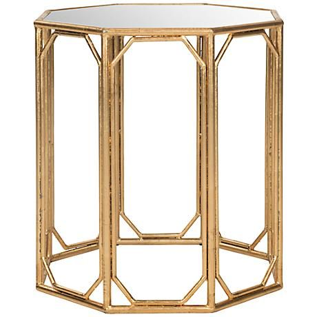 Bring A Touch Of Modern Asian Elegance Into Your Space With This Octagonal Mirrored  Accent Table