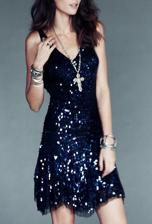 midnight sequin dress / free people