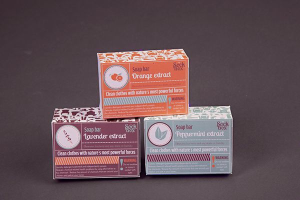 SockBox Laundromat on Behance by Arnica Botha. Packaging Soap Box