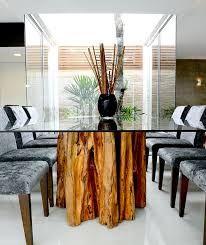 Картинки по запросу mesa com tampo de vidro e base de madeira