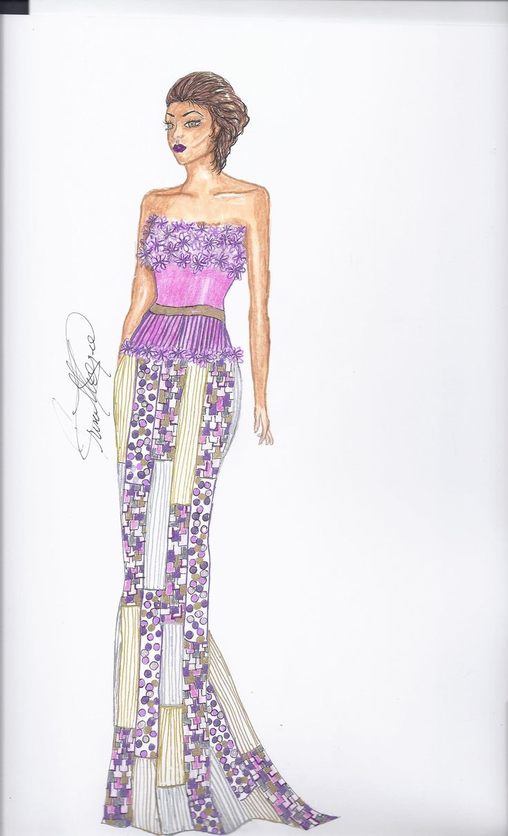 The 52 best My wedding and evening gown sketches images on Pinterest